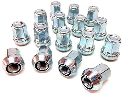 Écrous de roue en alliage Floues variable PCD 4 x 98–4 x 100, plaqué zinc M12 x 1,25 (M12 x 1,25) Fuseau Assise, 19 mm Hex. Lot de 16 Écrous de roue