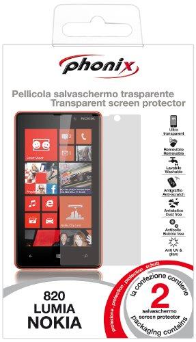 Phonix NL820SP2 Pantalla Protector para Nokia Lumia 820 (2 pcs)