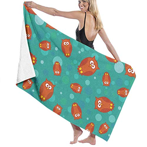 Owls and Circles Quick Drying Beach Towels, Personality Bath Towel,Towels Beach Blanket for Boating, Pool, Beach,and Travel. (32 X 52 Inch)
