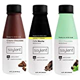 Soylent Chocolate Lover's Variety Pack Plant Protein Meal Replacement Shake, 14 Fl Oz, 12 Bottles, 4...