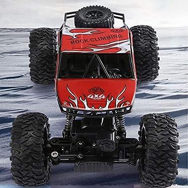 Kikioo 1:14 RC Racing Car 4WD All Terrain Crawlers Chariot 140 M / Min Off Road Remote Control Car 2.4GHz Climbing Cars…