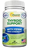 Premium Thyroid Support Supplement with Iodine (180 Capsules) - Best Herbal & Vitamin Complex w/ B12, Ashwagandha, Bladderwrack & Kelp - Helper for Healthy Hormone, Energy, Metabolism, Weight Loss