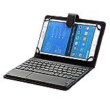 J&H Funda de teclado compacta para tablet Sony Xperia Z3, universal, de 8 a 8.9 pulgadas, funda de piel sintética con teclado Bluetooth (TOUCHPAD MOUSE) para Sony Xperia Z3 Tablet Compact