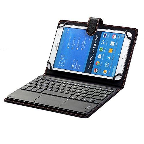 J&H Funda universal para Samsung Galaxy Tab S2 8.0 con teclado de 8 pulgadas a 8.9 pulgadas, funda de piel sintética con teclado Bluetooth (TOUCHPAD MOUSE) para Samsung Galaxy Tab S2 8.0 8.0