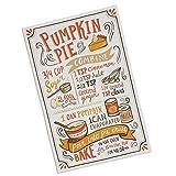 Pumpkin Pie Recipe Dish Towel, Tea Towel, 100% Cotton Fall Decor, Thanksgiving
