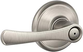 Schlage F40 VLA 619 16-080 10-027 134 N N SL Avila Bed and Bath Lever, Satin Nickel