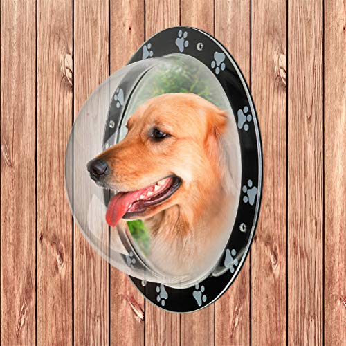 PUPTECK Pet Fence Window - Acrylic Clear Dome View, Dog Bubble Window, Cat Dome Safe Pet Peek Window Large Size for Dog Cat Pets