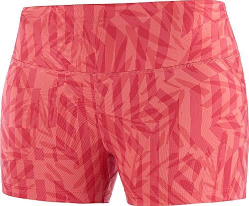 SALOMON Agile Short Tight Pantalón Corto, Mujer, Cayenne/ao, M
