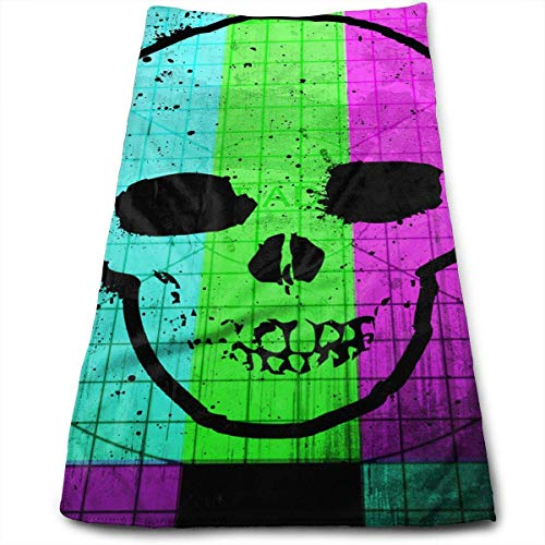 Skull Tv Test Color Pattern Microfiber Clean Towels Face Towels Fast Drying Hand Hair Towels for Bath, Spa, Gym -12