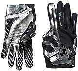 Under Armour Men's Spotlight Football Glove, White/Silver, Small