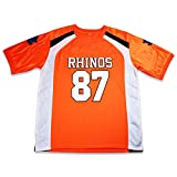 boriz H MCCRINGLEBERRY 87 Rhinos Football Jersey Stitch (42) Orange