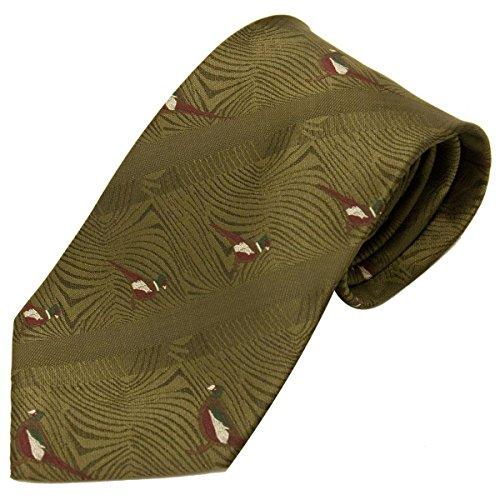 Bisley Cravate style chasse Motif faisan