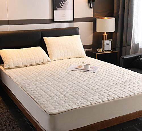 XLMHZP Lujosas sábanas Acolchadas de algodón, sábanas Estampadas Queen-fit, Protector de colchón King Antideslizante para niños y niñas-Q_200x220cm + 30cm