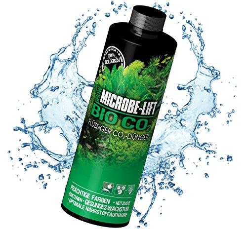 MICROBE-LIFT Bio Co2 – flüssiger CO2-Dünger, Kohlenstoffdünger für prächtige Aquarium Pflanzen, 236ml