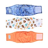 Teamoy Resuable Wrap Diapers for Male Dogs, Washable Puppy Belly Band Dog Nappies