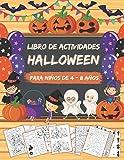 Libro de Actividades para Niños de 4 a 8 años: Libro Juegos Halloween infantil | Colorear,...