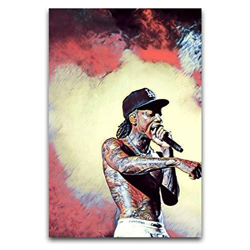 LANMPU Wiz Khalifa Rapper Art Poster Decorativo Tela Da Parete Camera Da Letto Corridoio Cafe Ufficio Decor Poster 30x45 cm