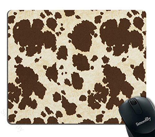 Smooffly Gaming Mouse Pad Custom,Big Cow Fur Print Pattern Personalized Design Non-Slip Rubber Mousepad