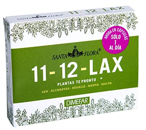DIMEFAR - Santa Flora 11-12 Lax Bote - Regulador Intestinal - Sen + Alcaravea + Regaliz + Menta + Malva, 30 Cápsulas | Regulador Intestinal