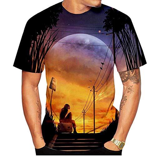 Funny Graphics 3D Print T Shirts Unisex Summer Crew Neck Funny Short Sleeved Pullover Tops Men/Women/Kids Monkey-308 M