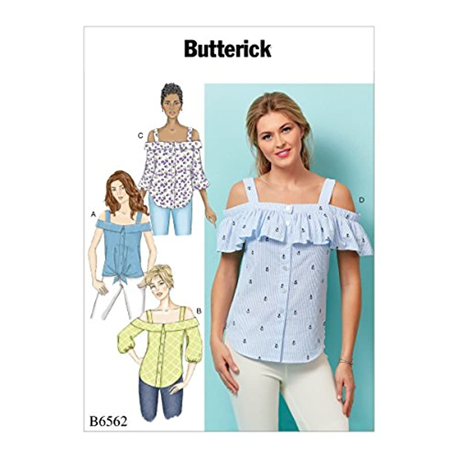 Butterick Patterns B6562E50 Misses' Top, E5 (14-16-18-20-22)