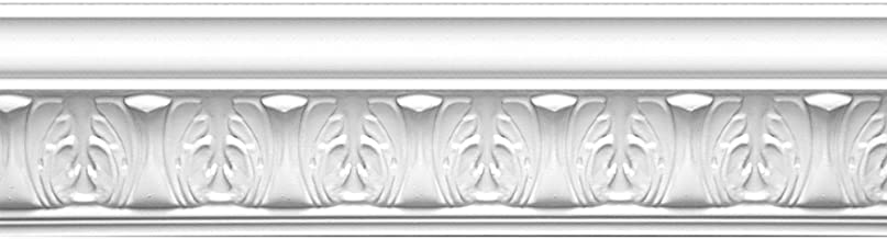 Focal Point 23145 Athenian Leaves Crown Moulding 4 1/8-Inch by 8 Foot, Primed White, 8-Pack
