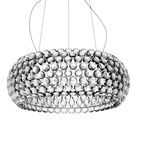 Foscarini Caboche Hängelampe LED, groß, 46 Watts, transparent