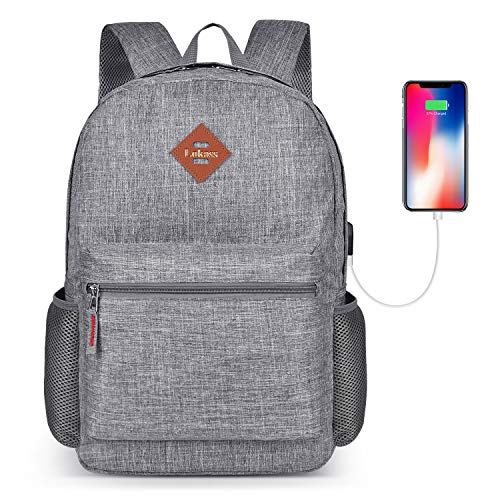 CoolBELL Backpack Casual Daypack Student Book Bag with USB Charging...