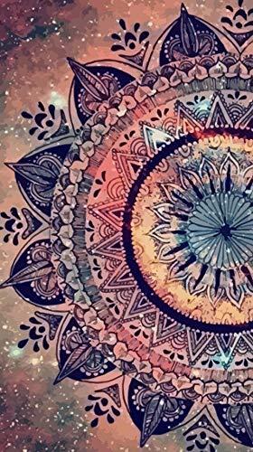 Rompecabezas 1000 Piezas Adultos Madera Puzzle Flor De Mandala Coloreada Niños Juguetes Educativos para Moderna para El Hogar Decoración