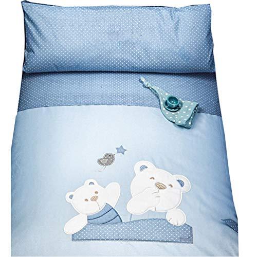 Picci Parure de lit pour lit d'enfant 12 Mami bleu.