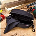 NoCry Storage Case for Safety Glasses with Felt Lining, Reinforced Zipper and Handy Belt Clip w/Cleaning Cloth