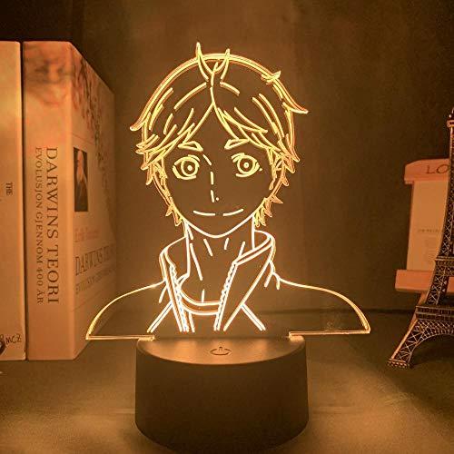 Anime Haikyuu Hinata Shoyo Kageyama Tobio Figur Acryl LED Nachtlicht für Kinder Schlafzimmer Dekor Nachtlicht 3d Illusion Licht