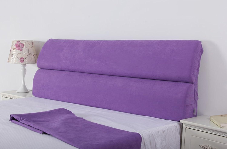 Dossier De Chevet Bedside doux Paquet Tissu suédé détachables Grand Coussins Sponge Dossier de chevet Coussins Oreiller (Couleur     2, taille   123  55cm)