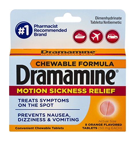 Dramamine Chewable Formula Motion Sickness Relief | Orange | 8 Count