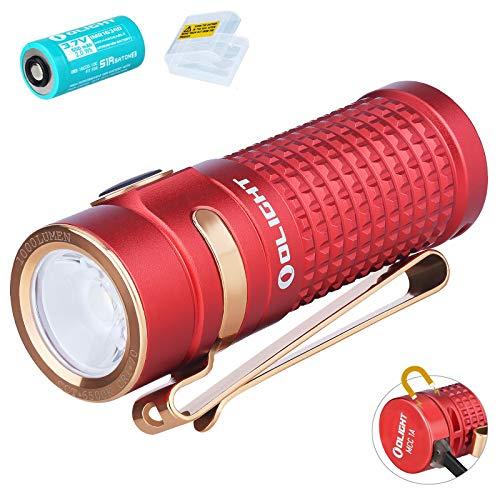 Olight S1R Baton II Mini linterna de 1000 lúmenes/138 metros CW LED EDC Compacto Linternas USB magnético recargable pequeña linterna, con batería 16340 y caja de baterías
