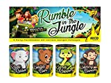 Unbekannt NICO - 4er Btl. Tischfeuerwerk Tischbomben Rumble in The Jungle Silvester Geburtstag Kinder Party