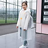 FubianG Newest 1pc Kids Boys/Girls PVC Hooded Long Section Raincoat Children Safety Raincoat -