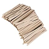 NUOBESTY 1000 Stücke 8 cm Kraft Twist Krawatten Lebensmittelverpackung Tasche Krawatten für Brot Cookie Candy