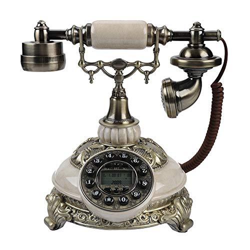 Teléfono antiguo de época, sistemas duales FSK/DTMF Registros de llamadas de 38 grupos Registro de un solo botón Rellamada Borrar números de teléfono Sonido, teléfono antiguo Teléfono con cable retro