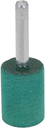 Utoolmart Diameter 16 Handle 6 Pointed Rubber Grinding Elastic Foam Sesame Sponge Rubber Polishing Head Grinding Wheel Metal Polishing Rust Rotary Tools 15Pcs