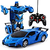 Volking Ferngesteuertes Auto Kinder Spielzeug Transform Roboter RC Car, Ferngesteuert Auto & Robot, Kinderspielzeug verwandelbar 1:18