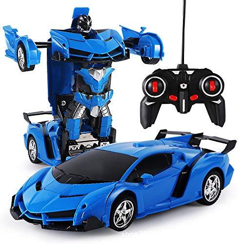 Wopohy Transformers Toys, 2 in 1 RC-Autotransformatoren, die Sportwagen für Kinder Fahren, Deformationsroboter Ferngesteuertes Fahrzeug Fahrzeug Spielzeug Sport Renn-Stuntauto für Jungen Mädchen