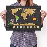 Enno Vatti Rubbel Weltkarte A3 (Deutsch) - Personalisiertes Poster um Reisen zu verfolgen - Zeigen...