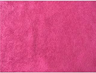 SyFabrics alova suede cloth fabric 58 inches wide Hot Pink