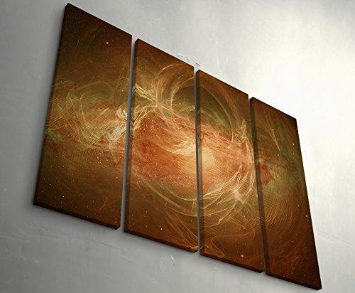 Paul Sinus Art Irgendwie Hatte ich Mir das Anders vorgestellt 4 teiliges hochwertiges Wandbild auf Leinwand