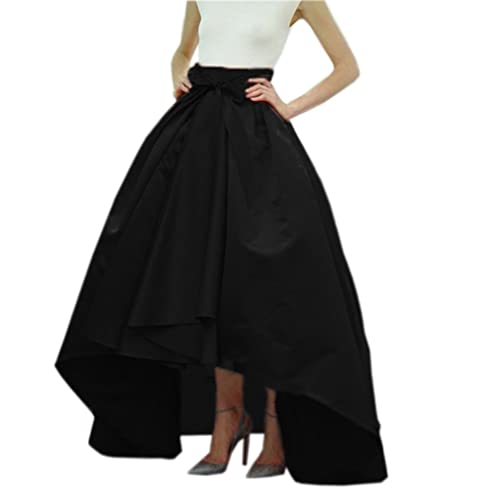 Womens New Long Lined Black Lace Panel Tier Skirt Ladies Fancy Highest Quality