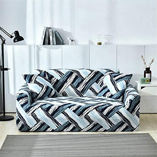 Anoauit Blumendruck Elastisches Sofa-Abdeckung Set Baumwolle Moderne Sofakabelle für Wohnzimmer Slipcovers Sofa Handtuch Couch Cover Corner Sofa-Color2_3-Sitzer.