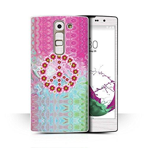 Stuff4® Hülle/Case für LG G4c/H525N / Krawatte Farbstoff Marmor Muster/Hippie Hipster Kunst Kollektion