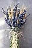 Ramo de trigo y lavanda preservada.
