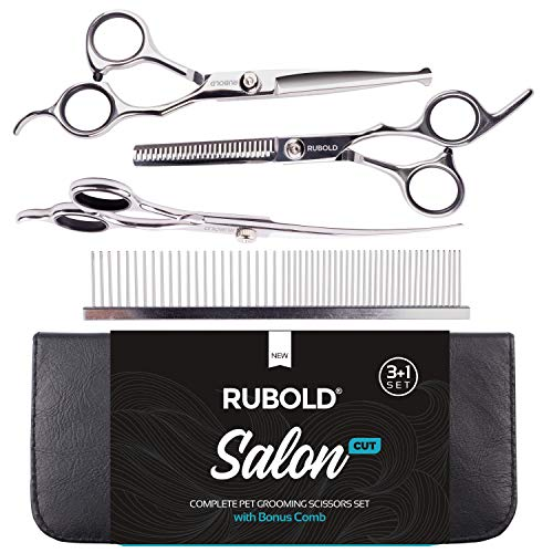 Rubold Professional Dog Grooming Scissors Set